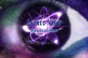Sacred View Cosmic Eye with Atom Cloud