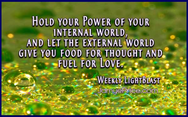 Food for thought and fuel for Love by Jamye Price