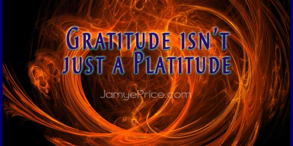 Gratitude is not just a Platitude by Jamye Price